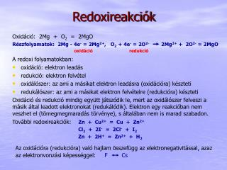 Redoxireakciók