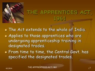 THE APPRENTICES ACT, 1961
