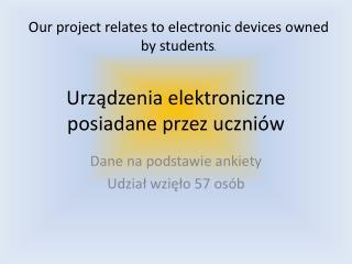Urządzenia elektroniczne posiadane przez uczniów