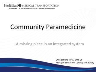 Community  Paramedicine