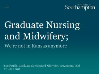Graduate Nursing and Midwifery;