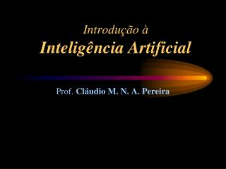 Introdu��o � Intelig�ncia Artificial