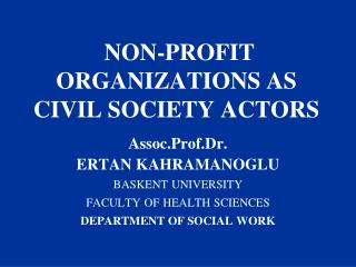 NON-PROFIT ORGANIZATIONS AS CIVIL SOCIETY ACTORS