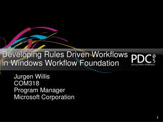 Developing Rules Driven Workflows  in Windows Workflow Foundation