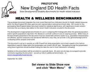 PROTOTYPE  New England DD Health Facts