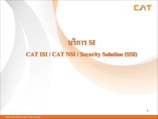 บริการ  SI CAT ISI / CAT NSI / Security Solution (SSI)