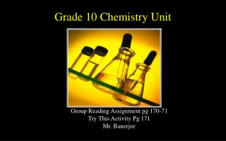 Grade 10 Chemistry Unit