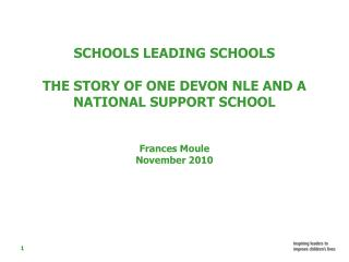 THE BACKGROUND  TO THE NLE/NSS PROGRAMME