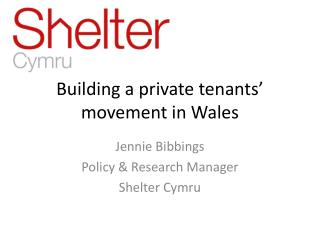 Building a private tenants' movement in Wales