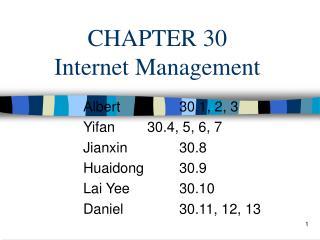 CHAPTER 30 Internet Management