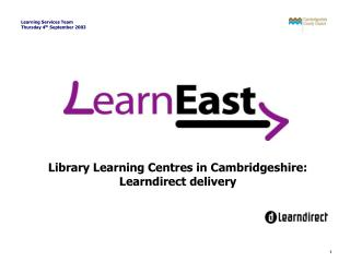 Library Learning Centres in Cambridgeshire: Learndirect delivery