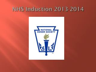 NHS Induction 2013-2014