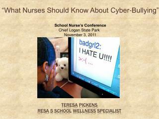 Teresa Pickens Resa  5 SCHOOL WELLNESS SPECIALIST