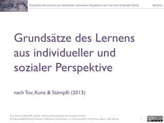 Grundsätze des Lernens aus individueller und sozialer Perspektive