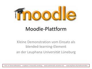 Moodle-Plattform