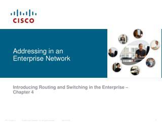 Addressing in an Enterprise Network