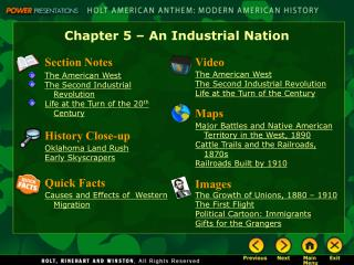 Chapter 5 – An Industrial Nation