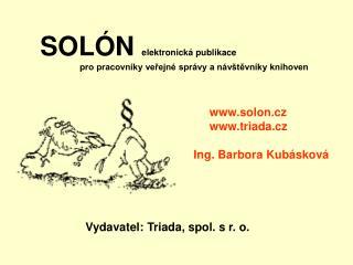 SOLÓN    elektronická publikace  pro pracovníky veřejné správy a návštěvníky knihoven