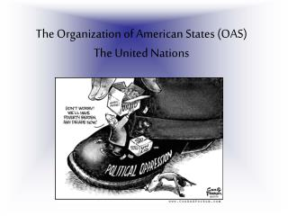 The Organization of American States (OAS)  The United Nations