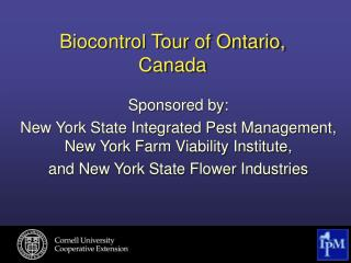 Biocontrol Tour of Ontario, Canada