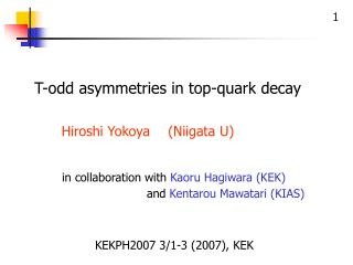 T-odd asymmetries in top-quark decay
