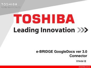 e-BRIDGE GoogleDocs ver 3.0 Connector