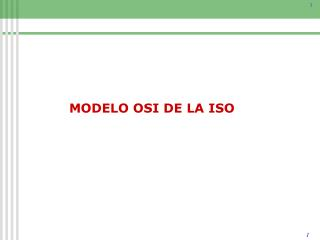MODELO OSI DE LA ISO