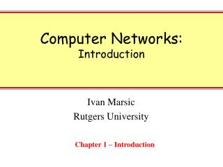 Computer Networks: Introduction