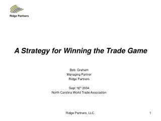 A Strategy for Winning the Trade Game