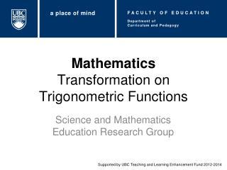Mathematics Transformation on Trigonometric Functions