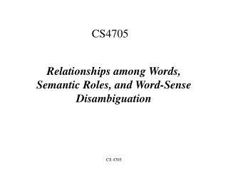 CS4705