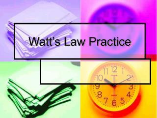 Watt's Law Practice