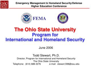 The Ohio State University Program for  International and Homeland Security