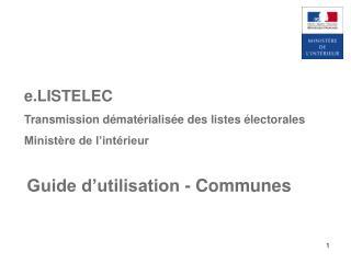 Guide d�utilisation - Communes