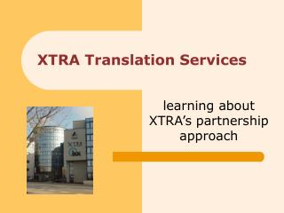XTRA Translation Services