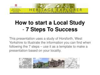 How to start a Local Study -  7 Steps To Success