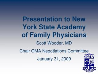 Presentation to New York State Academy of Family Physicians