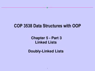 COP 3538 Data Structures with OOP