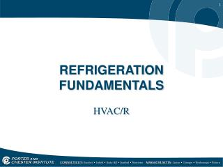 REFRIGERATION FUNDAMENTALS