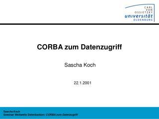 CORBA zum Datenzugriff