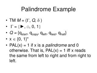 Palindrome Example