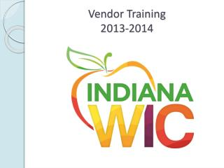 Vendor Training 2013-2014