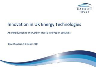 Innovation in UK Energy Technologies