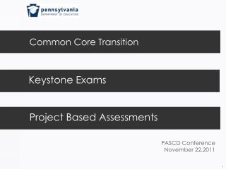 Common Core Transition