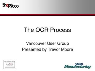The OCR Process
