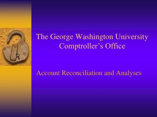 The George Washington University  Comptroller's Office