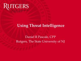 Using Threat Intelligence