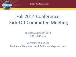 Fall 2014 Conference   Kick-Off Committee Meeting