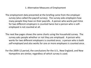 1. Alternative Measures of Employment