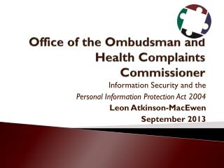 Office of the Ombudsman and Health Complaints Commissioner